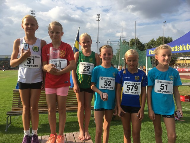 Prisutdelning F9 600m Tove Norrby, guld
