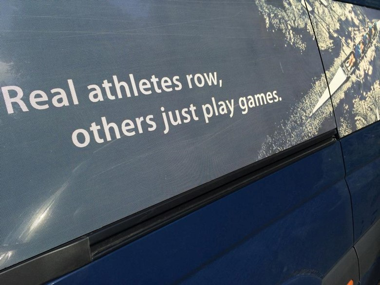 real athletes row, others just play games